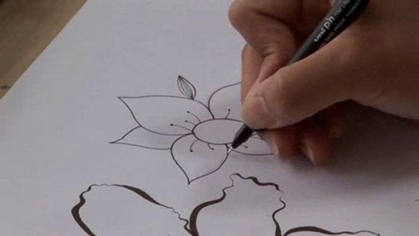 cum desenezi o floare