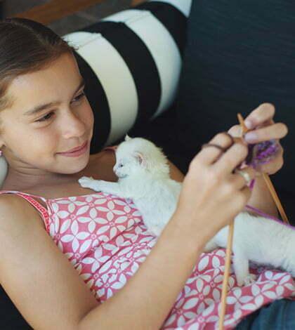 invata copil sa tricoteaza