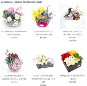 aranjamente florale de la floraria online theflowersociety