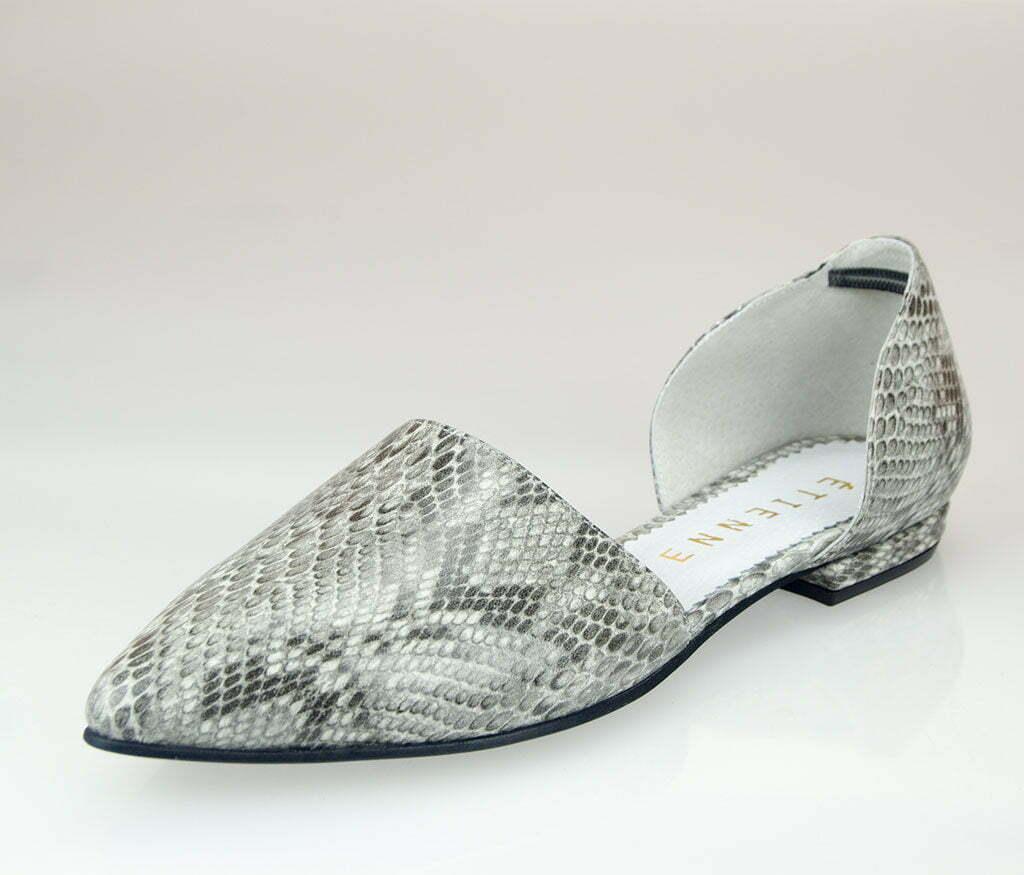 balerini decupati lateral snake print
