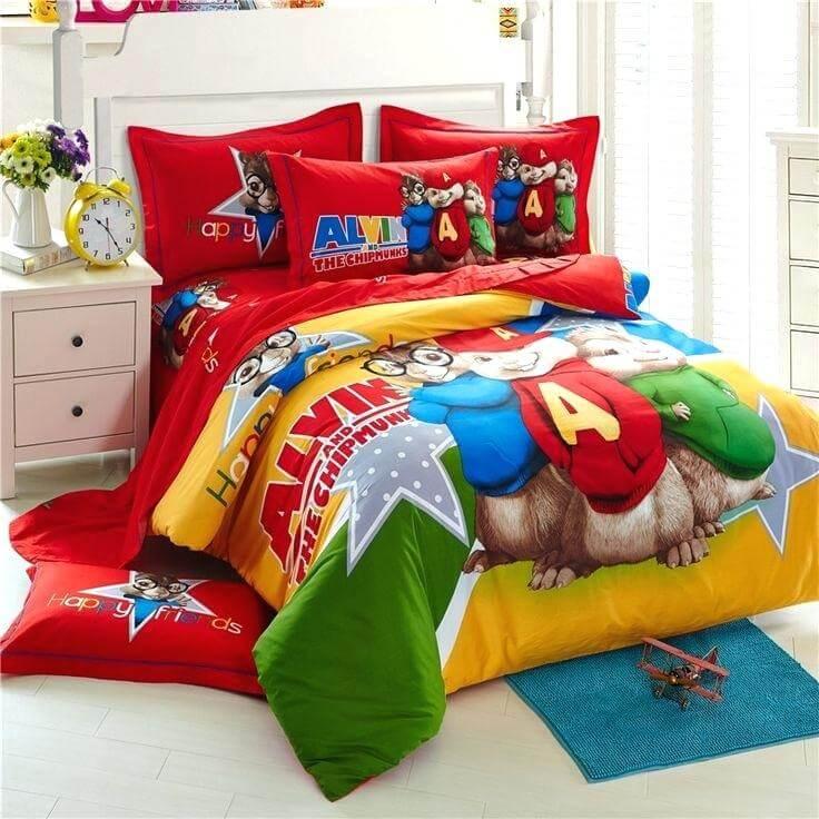 lenjeria de pat pentru copii desene